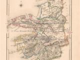 Map Of Kerry County Ireland Pin by Pine Brook Antique Maps Vintage Antique Map Decor and Gifts