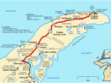Map Of Keweenaw Peninsula Michigan Michigan Trail Maps