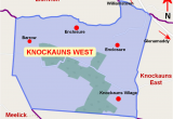 Map Of Knock Ireland Knockauns West