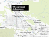 Map Of La Canada Ca 4 Lapd Officers Injured Rescuing Person From Burning Home