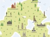 Map Of Larne northern Ireland Map Of northern Ireland Print