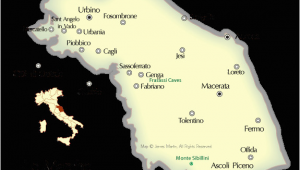 Map Of Le Marche Italy Map Of Cities In the Marche Region Of Central Italy