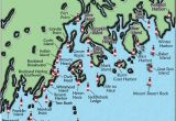 Map Of Lighthouses In Michigan Acadia and Penobscot Bay Maine Lighthouse Map the Lighthouse On