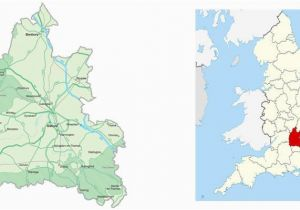 Map Of London England and Surrounding area Map Of Oxfordshire Visit south East England