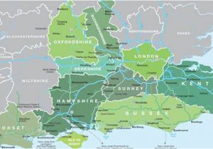 Map Of London England and Surrounding area Map Of south East England Visit south East England