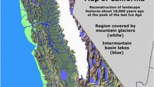 Map Of Lower California California Glaciation Ice Age Coastal Maps Ice Age Ice