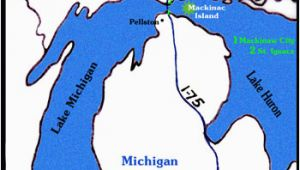Map Of Mackinac island Michigan Getting to Mackinac island is as Easy as 1 2 3