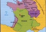 Map Of Medieval France 100 Years War Map History Britain Plantagenet 1154 1485