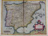 Map Of Medieval Spain 1570 theatrum orbis Terrarum by ortelius Abraham Art