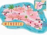 Map Of Menorca Spain Pinterest