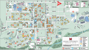 Map Of Miami County Ohio Oxford Campus Maps Miami University