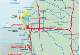 Map Of Michigan Lakes and Rivers West Michigan Guides West Michigan Map Lakeshore Region Ludington