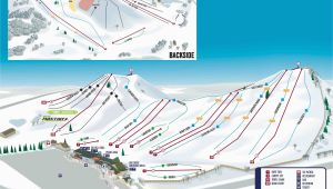 Map Of Michigan Ski Resorts Mt Brighton Trail Map Onthesnow