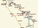 Map Of Minnesota and Wisconsin Wi Great River Road Wine Trail 9 Wineries Travel Wi