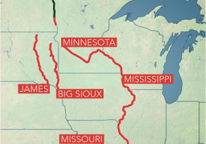 Map Of Minnesota Rivers Long Term Flooding Remains A Concern In Central Us as Rivers