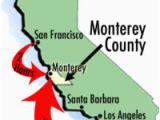 Map Of Monterey Bay California Maps Of Monterey County Travel Information and attractions
