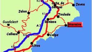 Map Of Moraira Spain Moraira Spain Moraira Spain Spain Destinations Javea