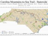 Map Of Mountains In north Carolina Mountains to Sea Trail Mst Maplets
