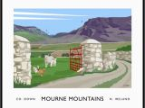 Map Of Mourne Mountains northern Ireland Mourne Mountains Hare S Gap