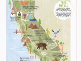 Map Of National Parks In California Livi Gosling Map Of California National Parks California Camping