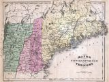 Map Of Ne England Map Of Maine New Hampshire and Vermont Products New Hampshire