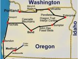 Map Of Newport oregon Route Map oregon Hiking Trails 14 Day tour Backpacking Hiking