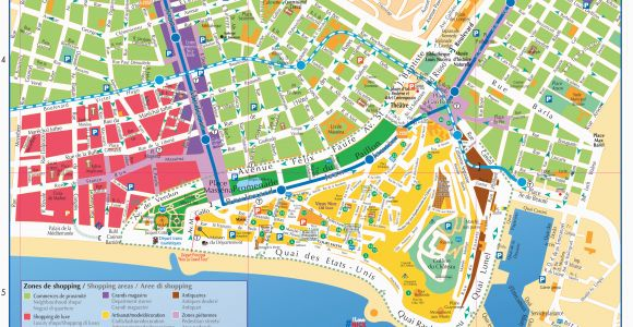 Map Of Nice France City Centre Maps and Brochures Of Nice Ca Te D Azur