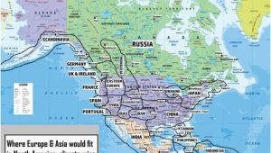 Map Of north America and Europe if Europe asia Were In north America where Would the