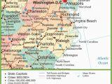 Map Of north and south Carolina Cities Map Of Virginia and north Carolina
