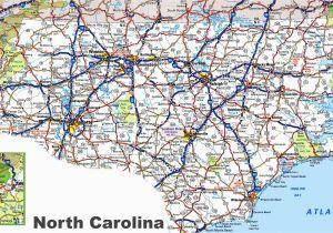 Map Of north and south Carolina Coast north Carolina Road Map