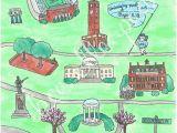 Map Of north Carolina Chapel Hill University Of north Carolina Chapel Hill Map Print Gone to