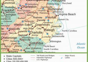 Map Of north Carolina Coastal towns Map Of Virginia and north Carolina