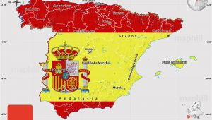 Map Of north Of Spain Flag Map Of Spain