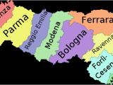 Map Of northeast Italy Emilia Romagna Travel Guide at Wikivoyage