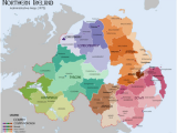 Map Of northen Ireland List Of Rural and Urban Districts In northern Ireland Revolvy