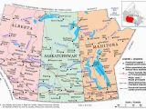 Map Of northern Alberta Canada Prairie Provinces A Political Map Of the Prairie Provinces
