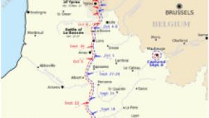 Map Of northern France Ww1 Map Of northern France and Belgium Showing the Progress Of Battles