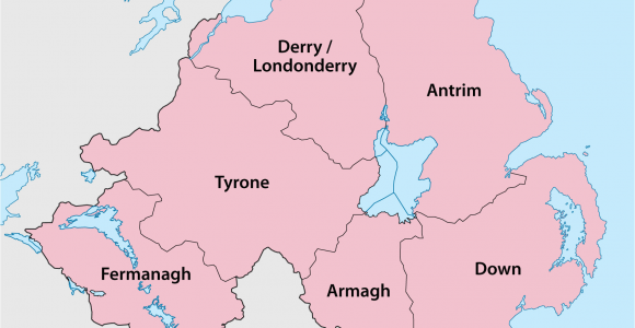 Map Of northern Ireland Cities Counties Of northern Ireland Wikipedia
