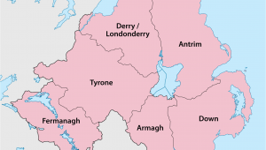 Map Of northern Ireland Showing Counties Counties Of northern Ireland Wikipedia