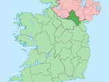 Map Of northern Ireland with towns County Monaghan Wikipedia