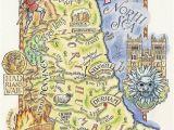 Map Of northumbria England Pinterest
