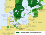 Map Of northwestern Europe Map Showing the Development Of the Swedish Empire Between