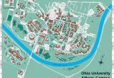 Map Of Ohio State University Campus Ohio University S athens Campus Map