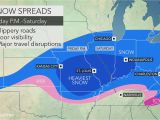 Map Of Ohio Valley Region Snowstorm Poised to Hinder Travel From Missouri Through Ohio