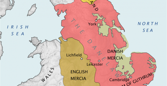 Map Of Old England Wessex Danelaw Wikipedia