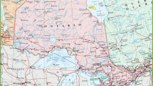 Map Of Ontario Canada Showing Cities Map Of Ontario with Cities and towns