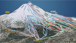 Map Of oregon Ski Resorts Trail Map