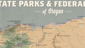 Map Of oregon State Parks oregon State Parks Federal Lands Map 24×36 Poster Best Maps Ever