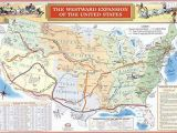 Map Of oregon Trail 1850 Amazon Com Historic Map the Westward Expansion Of the United