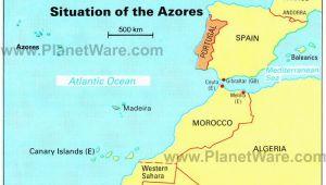 Map Of Palma Spain Azores islands Map Portugal Spain Morocco Western Sahara Madeira
